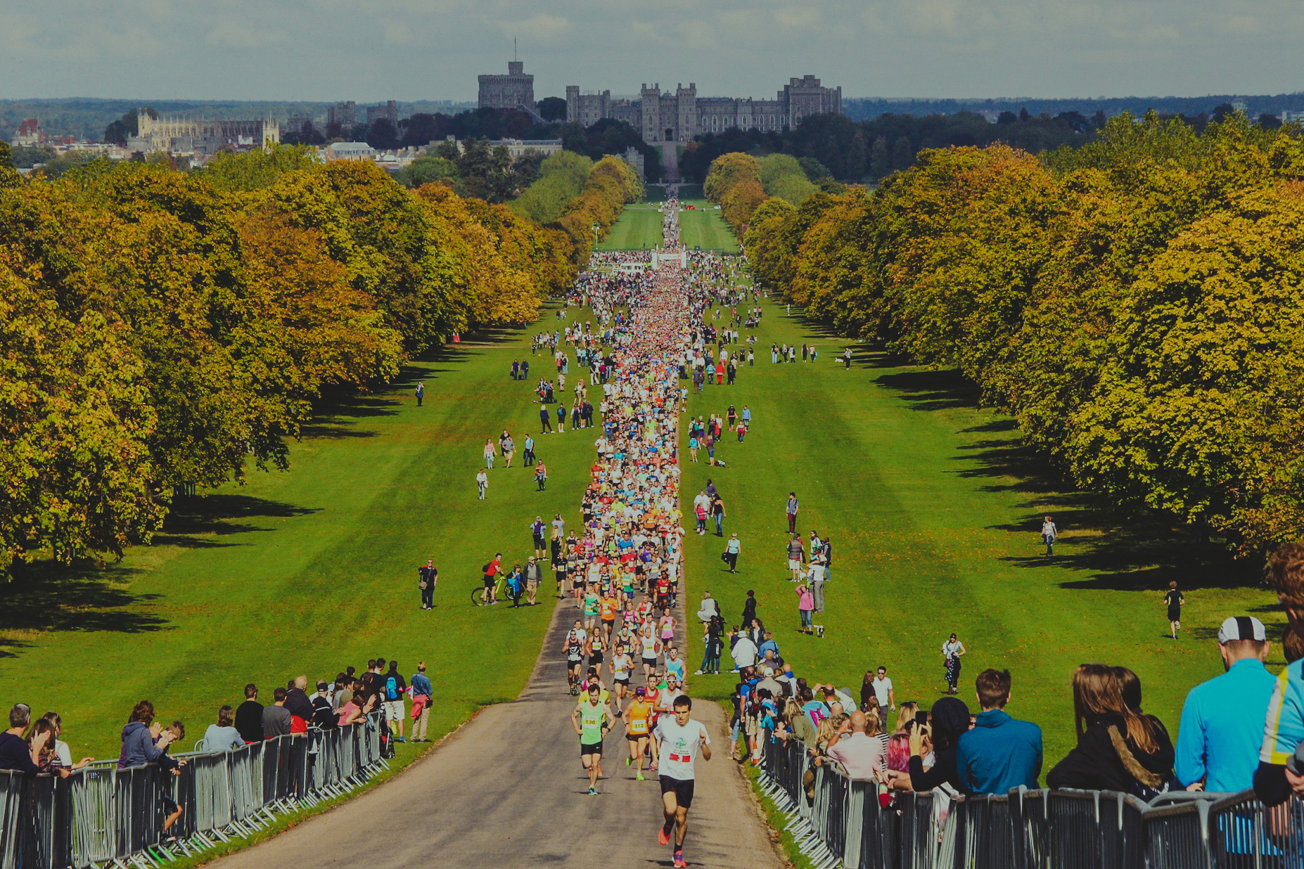 The Long Walk to Windsor Castle during the Half Marathon