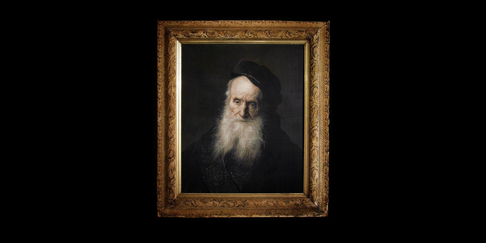 Daryl's version of Jan Lieven's Study of an old man. Acrylic on canvas in an antique frame.